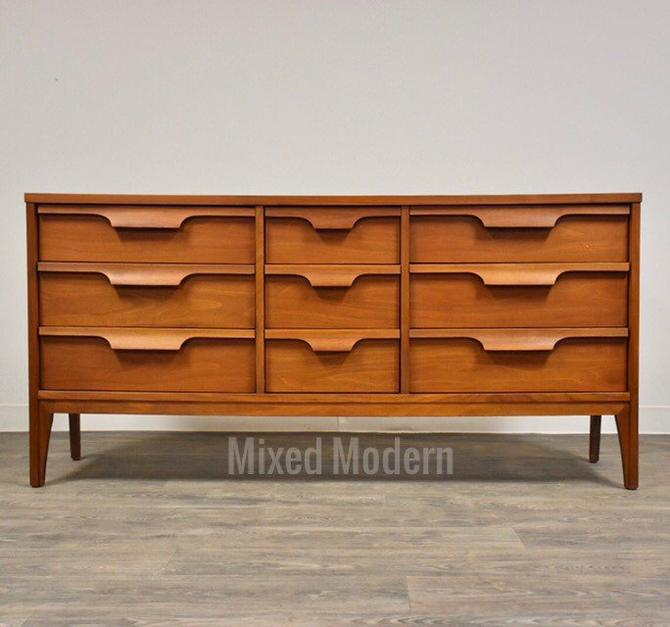 Johnson Carper Walnut and Formica Dresser by mixedmodern1