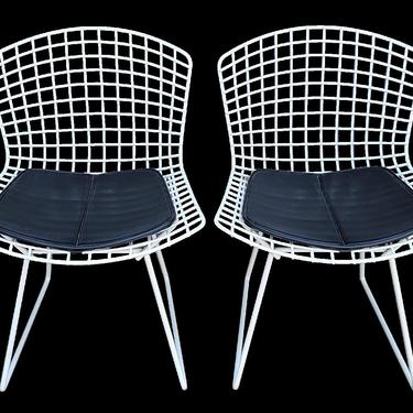 Wire Dining Chairs by Harry Bertoia for Knol  - Set of 4 by JanakosAndCompany