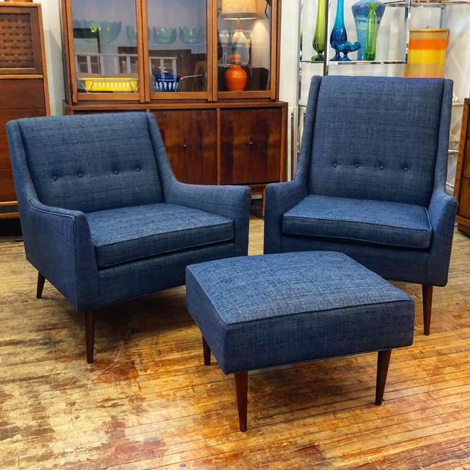 3-piece Mid-century Lounge Set