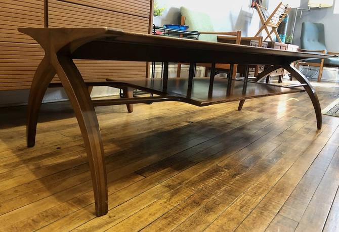 1950's Walnut Atomic Coffee Table