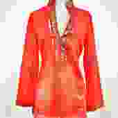Tory Burch Size 6 Orange Tunic