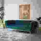 Crushed Velvet Sofa with Gold Base