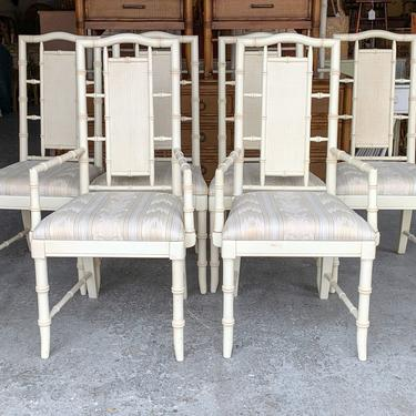 Six Palm Beach Faux Bamboo Dining Chairs