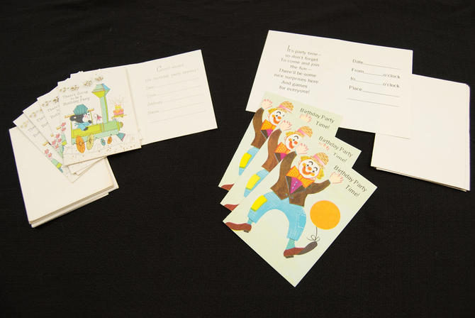 Vintage Children's Party Invitations by TheresaWellsStifel