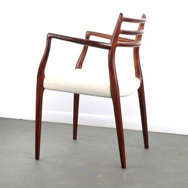 Model 62 Rosewood & Knoll Boucle Arm Chair by Niels Møller, 1960s by ABTModern