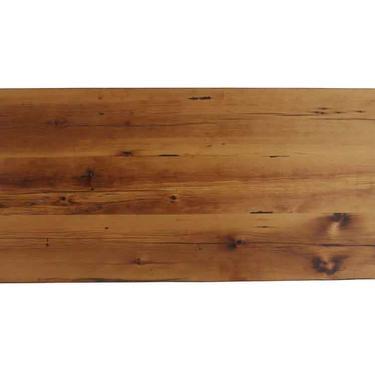 Handmade 6 ft Golden Oak Stained Reclaimed Pine Tabletop