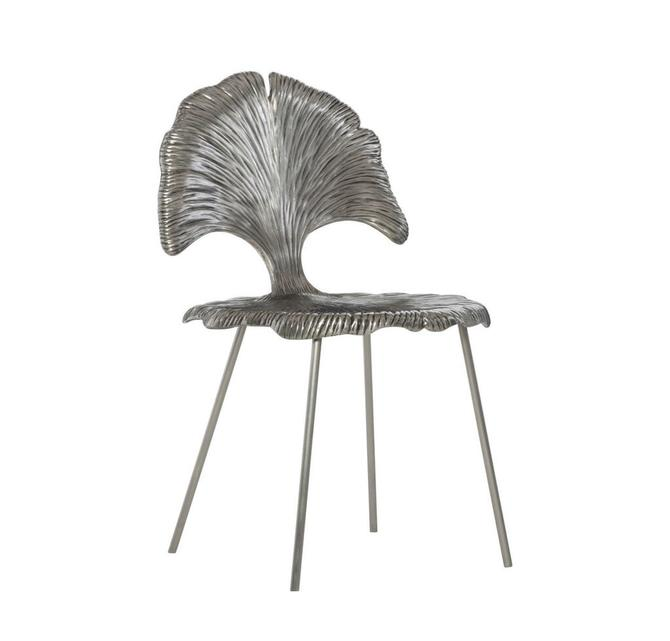 Silver Metal Leaf Chair