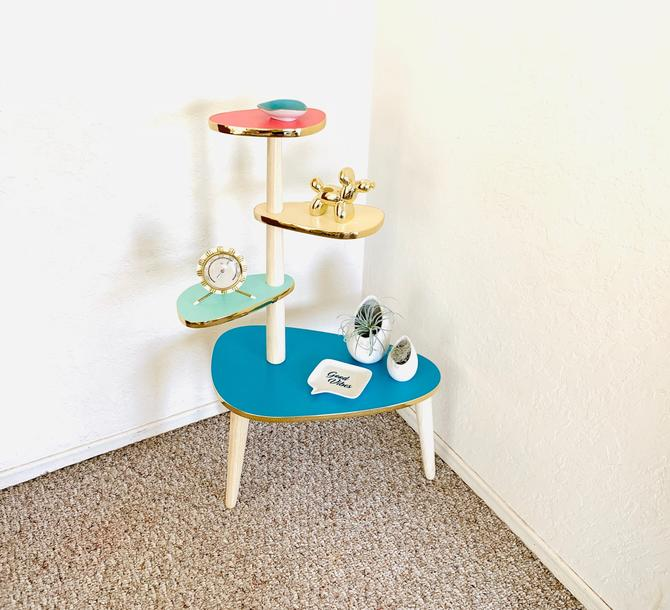 Atomic Formica End Table by dadacat
