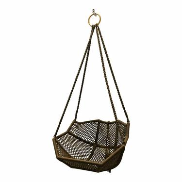Laura Kirar for Baker McGuire Chocolate Brown Rope Nozomu Outdoor Hanging Chair