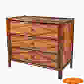 Burnt Bamboo Chest
