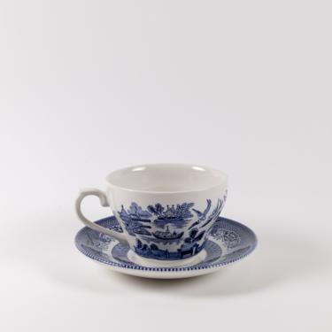 Primrose Hill Teacup + Saucer Set 12pc | Blue