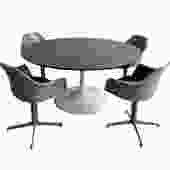 Mid Century MODERN Saarinen style TULIP DINING Table by Burke by CIRCA60