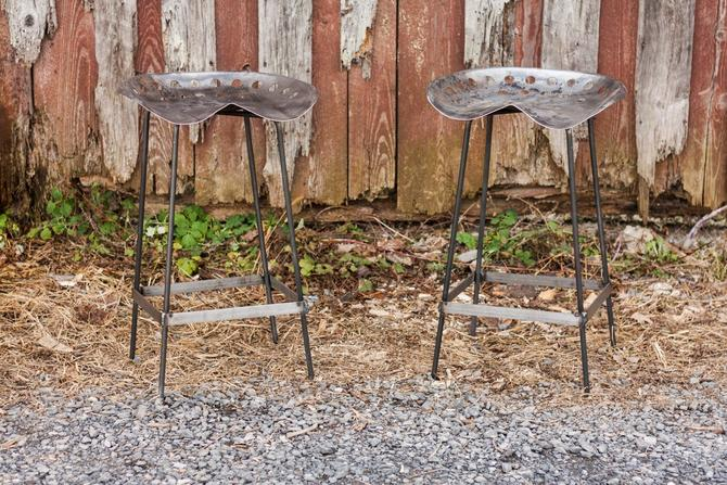 FREE SHIPPING - Outdoor Patio Vintage Tractor Seat Bar Stools - Great for restaurants, bars and cafes! by BarnWoodFurniture