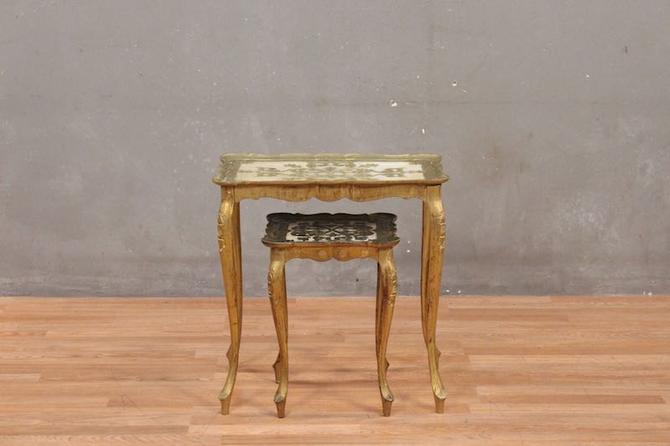 Pair of Italian Provincial Acrylic Nesting Tables