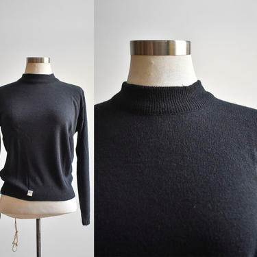 Deadstock 70s Black Knit Sweater Blouse by milkandice