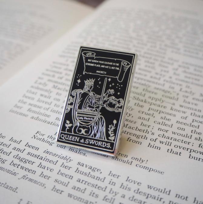 Tarot of Shakespeare Enamel Pin, multiple styles