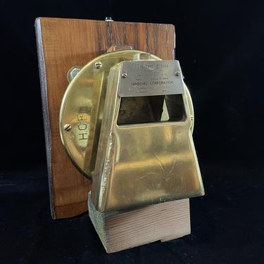 Alarm Bell, Brass, Mounted, Working With Push Button