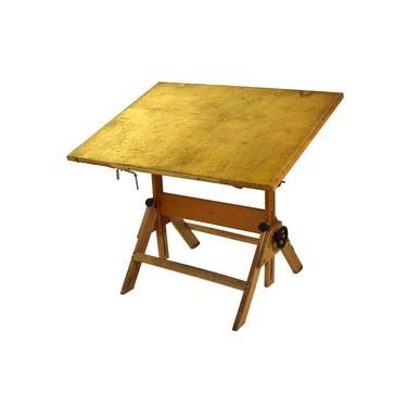 Vintage Industrial Wood Folding Artist Drawing Drafting Table by PrairielandArt