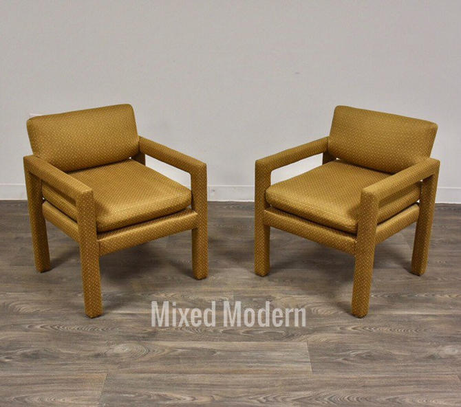 Thayer Coggin Parsons Chairs - A Pair by mixedmodern1