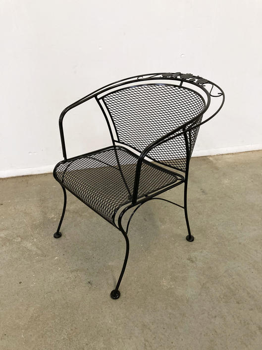 Mid-Century Modern Woodard Briarwood Outdoor Wrought Iron Dining Arm Chair by AnnexMarketplace