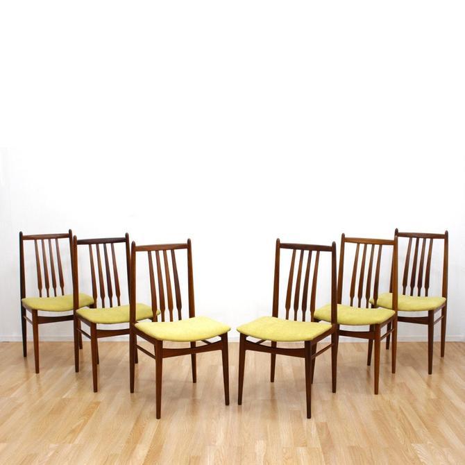 Set of Six Danish Modern Teak High Back Dining Chairs Mid Century Chairs by SputnikFurnitureLLC