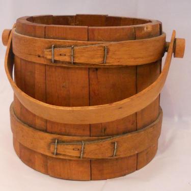 Antique Shaker Box Bucket - Pail by estateoriginals