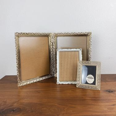 Vintage Lot of Ornate Metal Lace Filigree Picture Frames • Double and Single by SonjloStudio