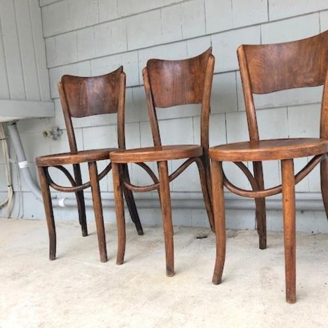 Rare Mundus Thonet Bentwood Chair Trio
