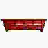 Chinese Distressed Red Lacquer Low Long TV Console Cabinet cs4895S