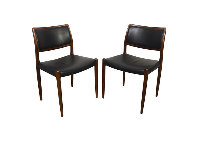 J.L. Moller Rosewood Dining Chairs Model #80 Mid Century Modern Set of 10 by HearthsideHome