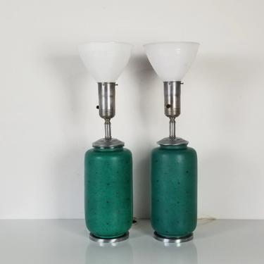 Wilhelm Kage Gustavsberg Argenta Table Lamps - a Pair by MIAMIVINTAGEDECOR