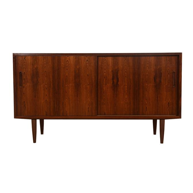 Rosewood Condo-Sized Sliding Door Sideboard / Media Cabinet