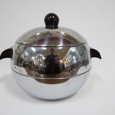 Vintage MCM chrome penguin ice bucket