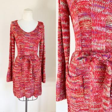 Vintage 1970s Cranberry Sweater Dress • S/M by MsTips
