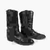 Black Cowboy Boots Vintage 1980s Justin Roper Men's size 6 C by purevintageclothing