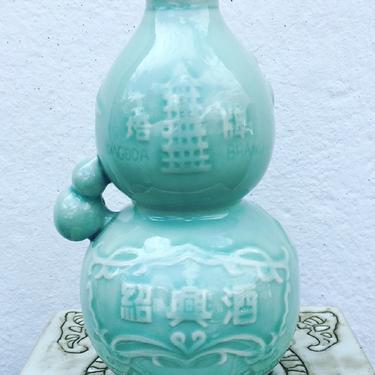 Vintage Celadon Sake Decanter