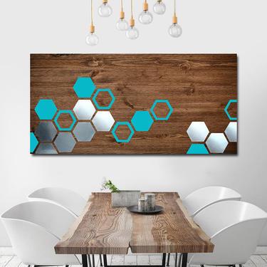 Metal Art, Wood Wall Art, Geometric Art, Modern Painting, Modern Art, Mid Century Modern Sculpture Abstract Artwork Painting Large Art by LauraAshleyWoodArt