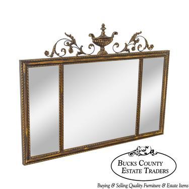 LaBarge Adams Style Beveled 3 Panel Wall Mirror by BucksEstateTraders