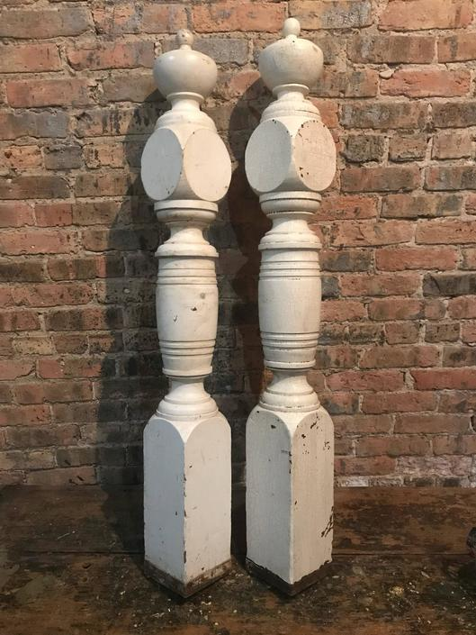 Victorian Newell Post Architectural Salvage Staircase Decor by NorthGroveAntiques