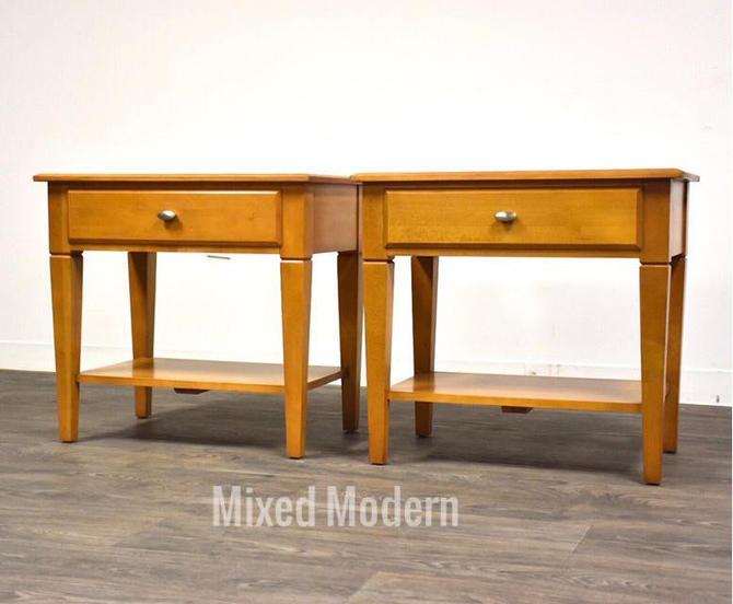 Ethan Allen Elements Maple Nightstands- a pair by mixedmodern1