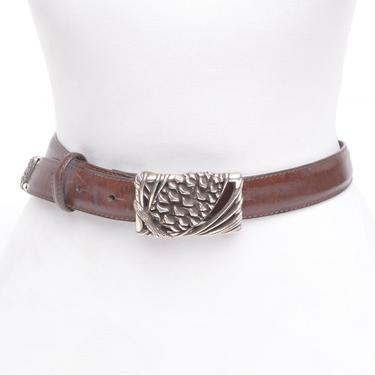 Leather Pinecone Belt