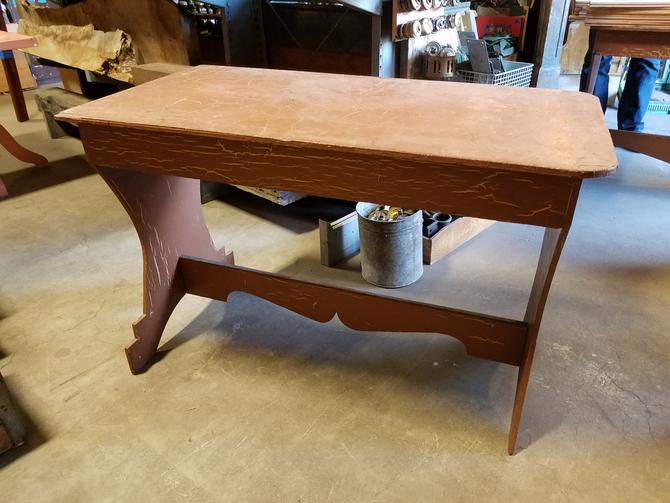 Painted Plywood Trestle Table