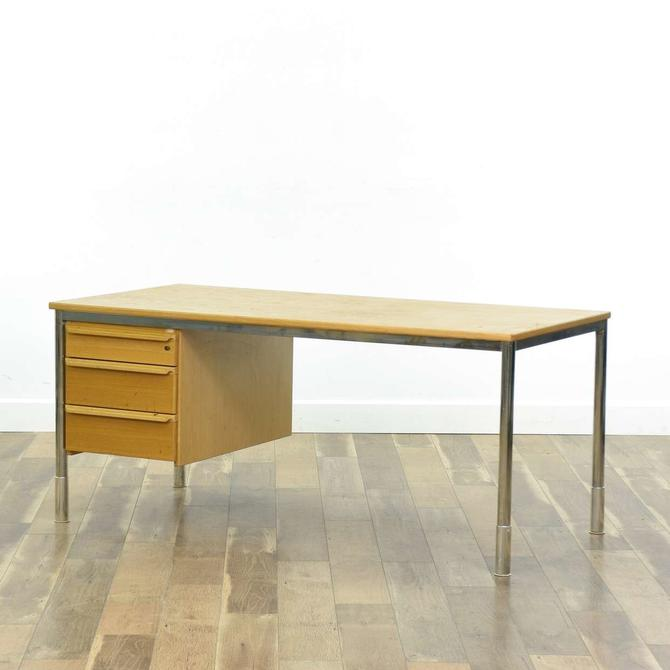 Kinnarps Swedish Modern Teak Desk, C. 1986