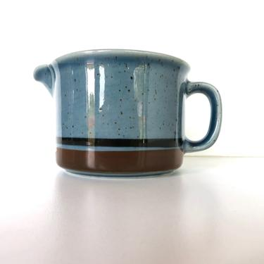 Arabia Finland Meri Creamer, Ulla Procope Speckled Sea Blue Stoneware Cream Pitcher From Finland by HerVintageCrush
