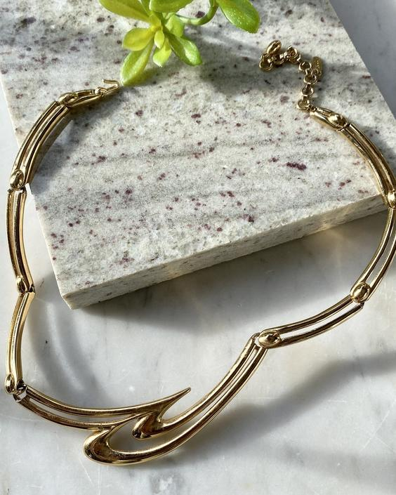 80s Monet Gold Necklace