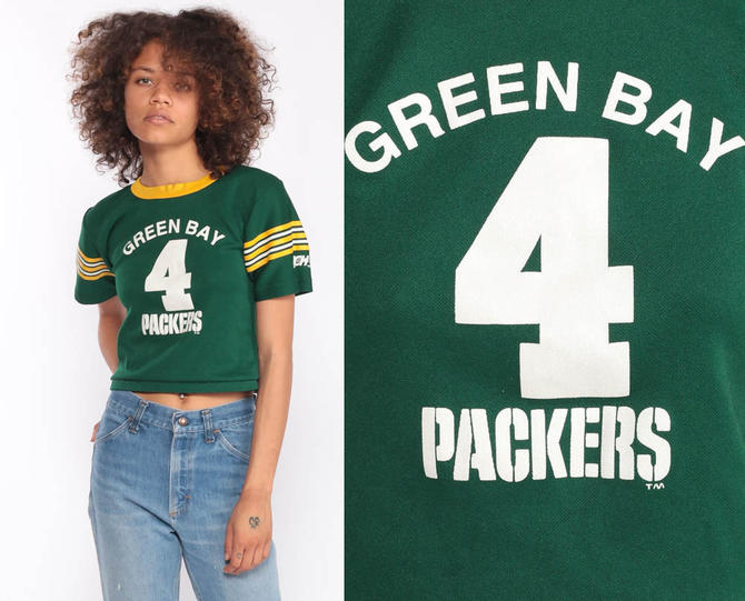 online retailer f23b1 f5ef6 Green Bay Packers Shirt Football Jersey 90s Tshirt NFL Crop Top Ringer Tee  Throwback Jersey Vintage Wisconsin Sports Extra Small xs by ShopExile