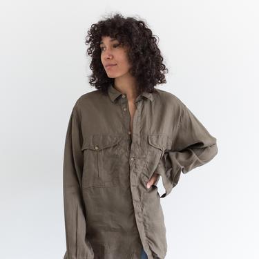 Vintage Mushroom Brown Simple Shirt Tunic | Mondo Made in Italy | M | by RAWSONSTUDIO