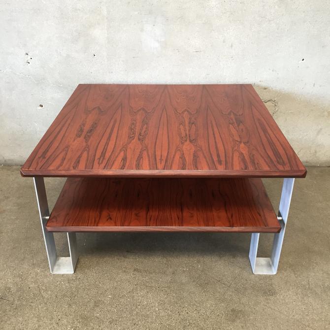 Mid Century Exotic Wood Table