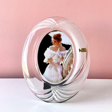 80s Crystal Photo Frame by Home Beautiful by BarelaVintage