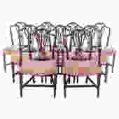 Set of Nine Cabinet Made Mahogany Dining Chairs